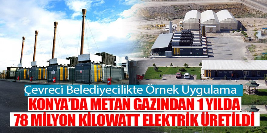 Konya'da Metan Gazından 1 Yılda 78 Milyon Kilowatt Elektrik Üretildi