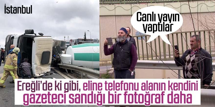 Şoför can, vatandaşlar canlı yayın derdinde