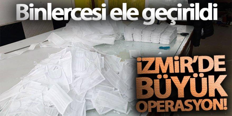 İzmir'de jandarmadan operasyon: 3 bin 618 maskeye el konuldu