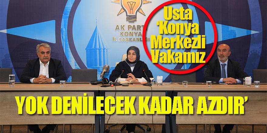 Usta 'Konya Merkezli Vakamız Yok Denilecek Kadar Azdır'