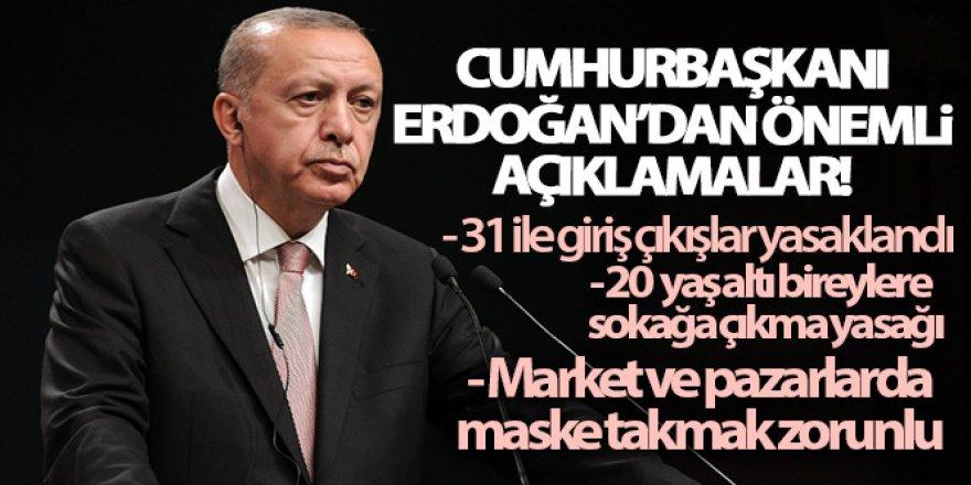 Cumhurbaşkanı Erdoğan'dan çok önemli açıklamalar!