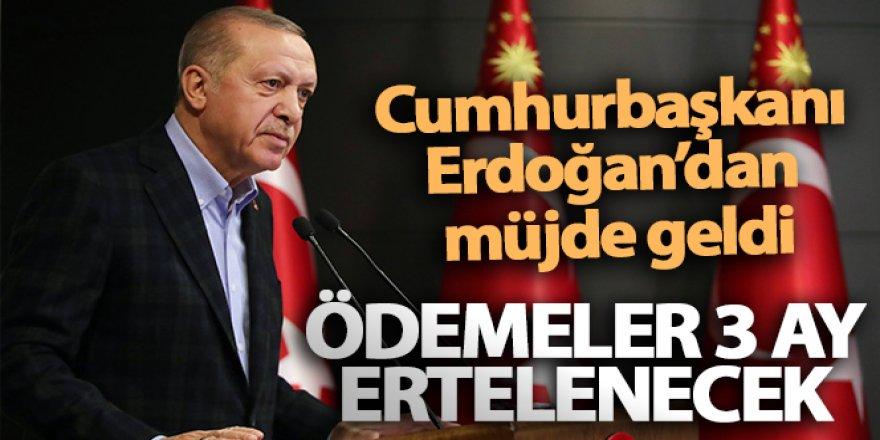 Cumhurbaşkanı Erdoğan'dan 136 bin KOBİ'ye müjde: KOSGEB destekli kredilerin ödemeleri 3 ay ertelenecek