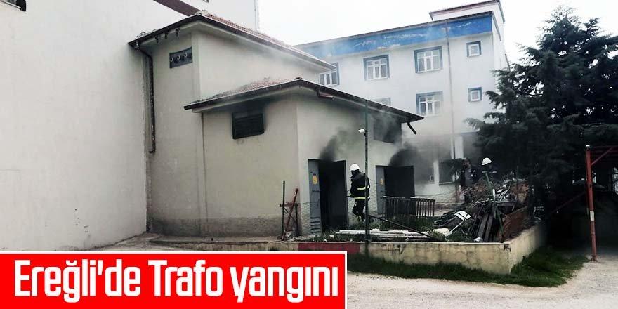 Ereğli'de Trafo yangını
