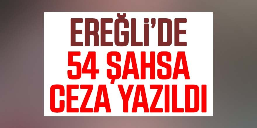 EREĞLİ'DE UYARLIRA UYMAYANLARA CEZA YAĞDI!