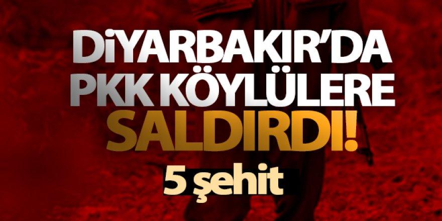 PKK köylülere saldırdı 5 şehit