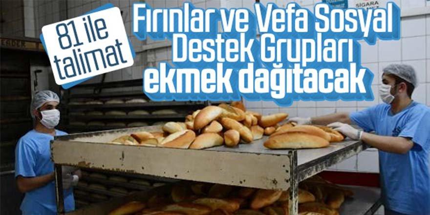 Ekmekleri fırıncılar ve sosyal destek grupları dağıtacak