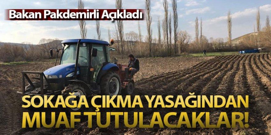 Bakan Pakdemirli: 'Tarım ve hayvancılık faaliyetlerinde bulunanlar sokağa çıkma yasağından muaf tutulacak'
