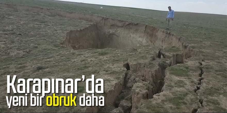 Karapınar'da 15 metre derinliğinde yeni obruk oluştu