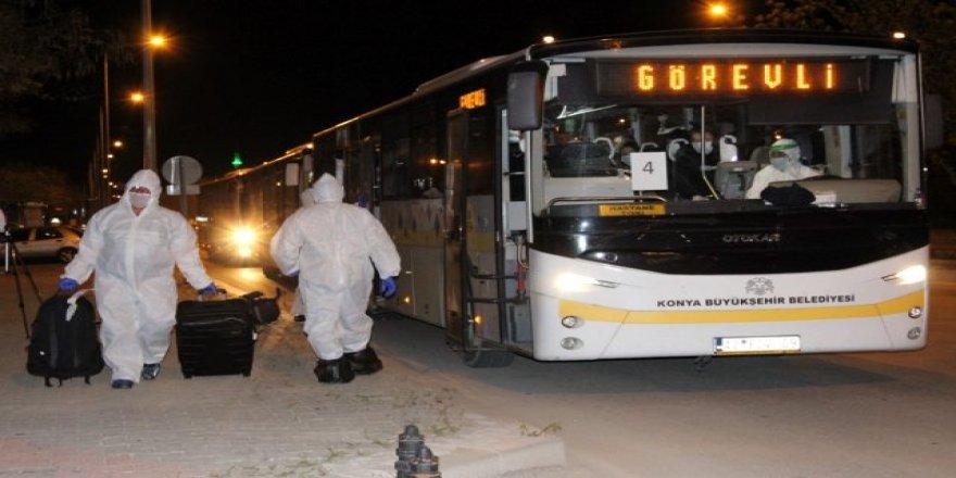 Bangladeş'ten getirilen 154 Türk vatandaşı Karaman'da yurda yerleştirildi