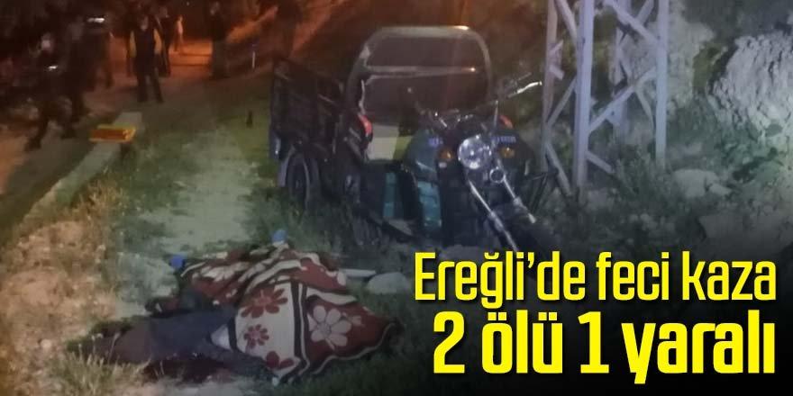 Bahçe dönüşü kaza 2 ölü 1 yaralı