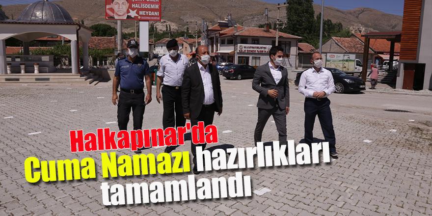 Halkapınar'da Cuma Namazı hazırlıkları tamamlandı