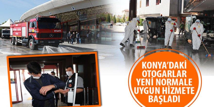 Konya'daki Otogarlar Yeni Normale Uygun Hizmete Başladı