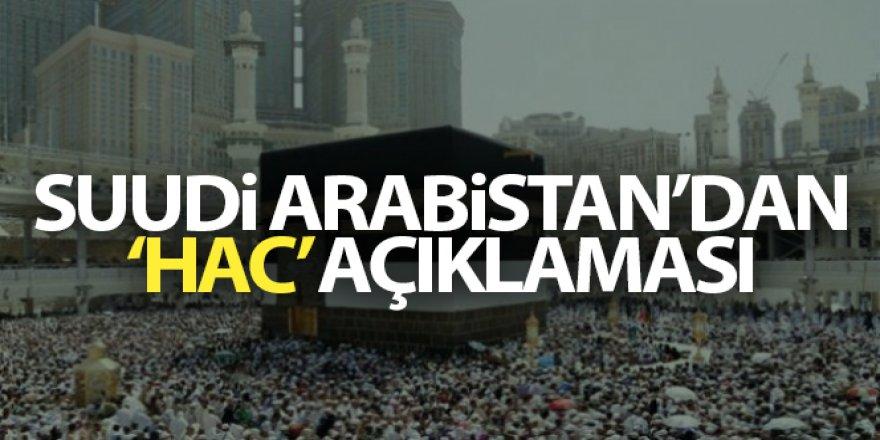Suudi Arabistan yurt dışından gelen hacı adaylarını kabul etmeyecek