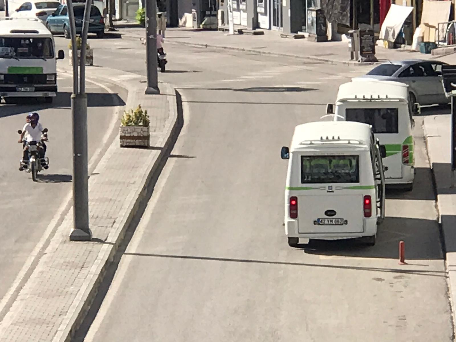 Şehir içi minibüsçüleri kop.'den duyurulur
