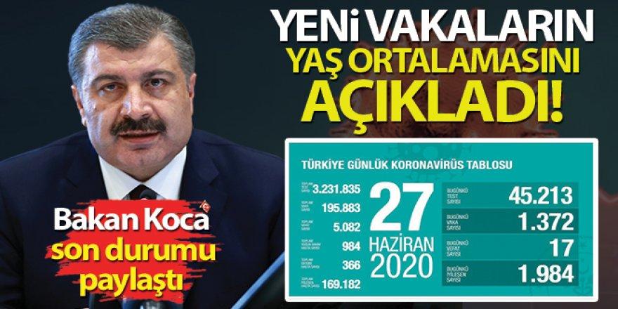 Bakan Koca, Yeni vakaların yaş ortalamasını açıkladı!