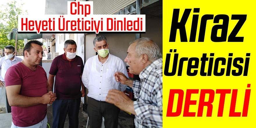 CHP heyeti kiraz üreticisini dinledi