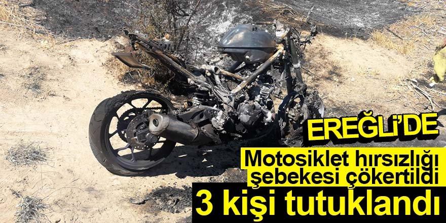 Motosiklet hırsızlığı şebekesi çökertildi 3 kişi tutuklandı
