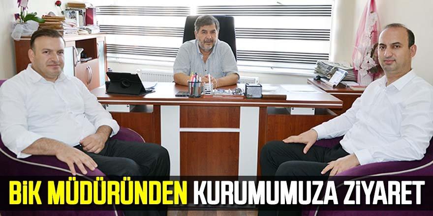 BİK Müdüründen gazetemize ziyaret!