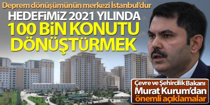 Bakan Murat Kurum: 'Hedefimiz 2021 yılında İstanbul'da 100 bin konutu dönüştürmek'