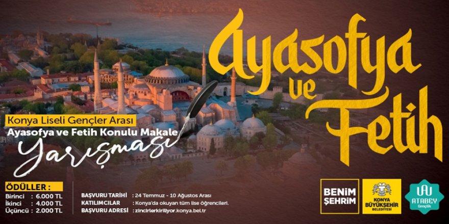 """Büyükşehir'den """"Ayasofya ve Fetih"""" Konulu Makale Yarışması"""