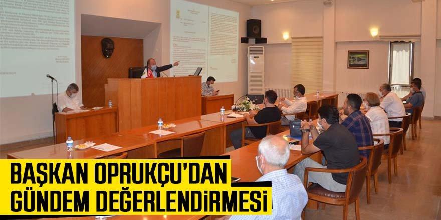 Başkan Oprukçu Meclis Toplantısı'nda gündemi değerlendirdi