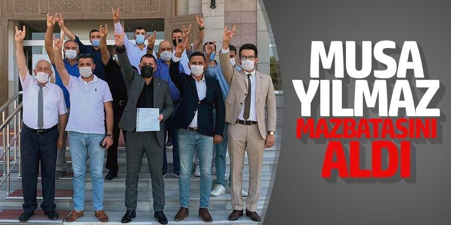MHP'Lİ MUSA YILMAZ MAZBATASINI ALDI