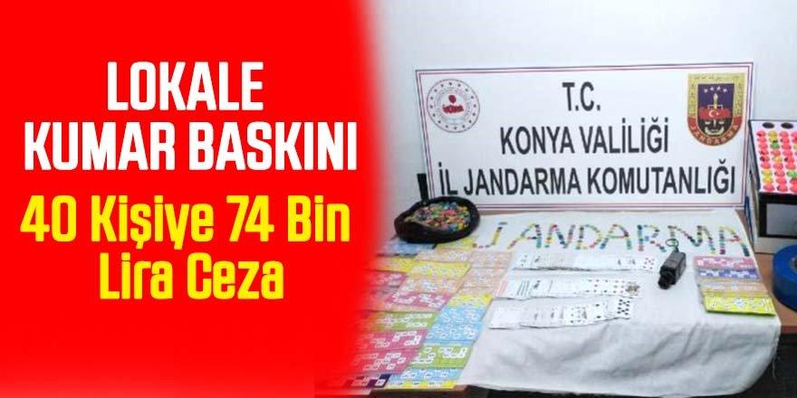 Jandarma'dan Lokale Kumar Baskını: 40 kişiye 74 bin lira ceza