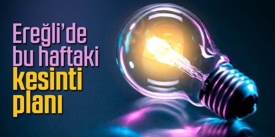 Ereğli'de elektrik kesinti bilgileri