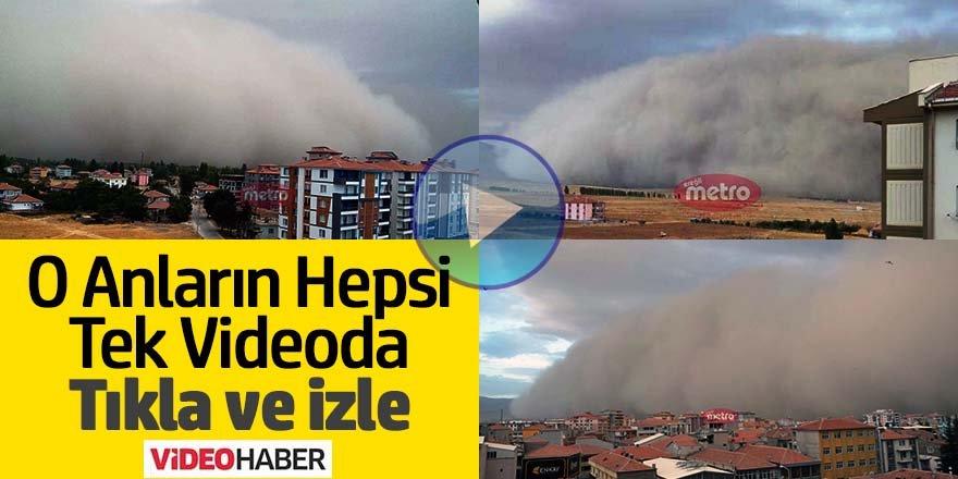 Ereğli'ye Toz Fırtınasının Geliş Anı