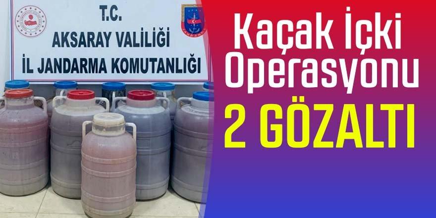 Kaçak içki operasyonu: 2 gözaltı