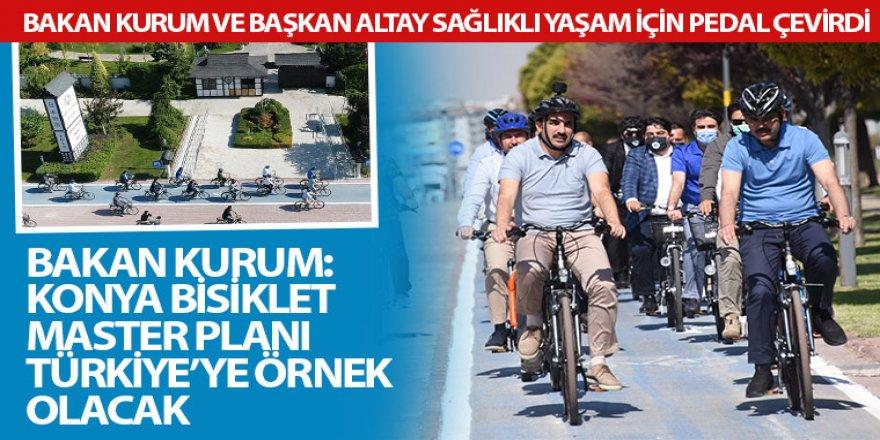 Bakan Kurum ve Başkan Altay Sağlıklı Yaşam İçin Pedal Çevirdi