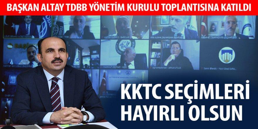 Başkan Altay TDBB Yönetim Kurulu Toplantısına Katıldı