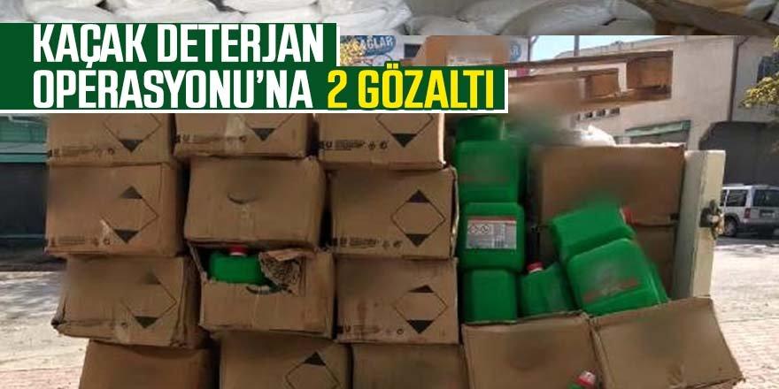 Kaçak deterjan operasyonu: 2 gözaltı