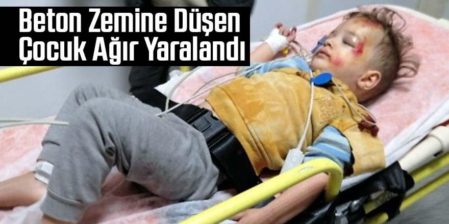 Balkondan düşen çocuk ağır yaralandı