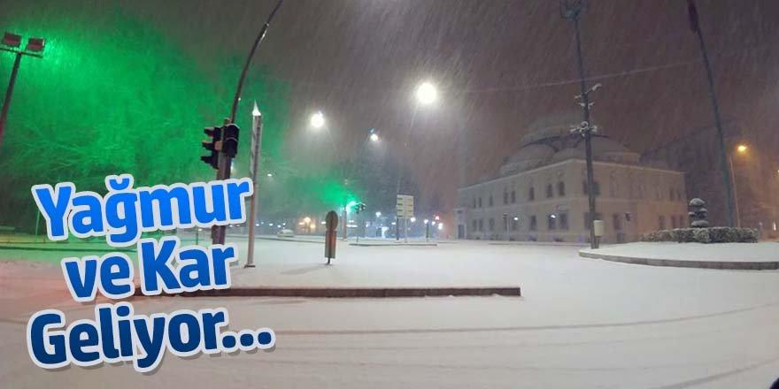 Meteoroloji'den yağmur ve kar yağışı uyarısı!