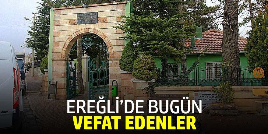 19 Kasım Ereğli'de vefat edenler