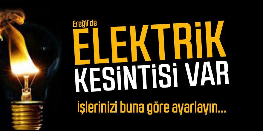Ereğli'de elektrik kesinti