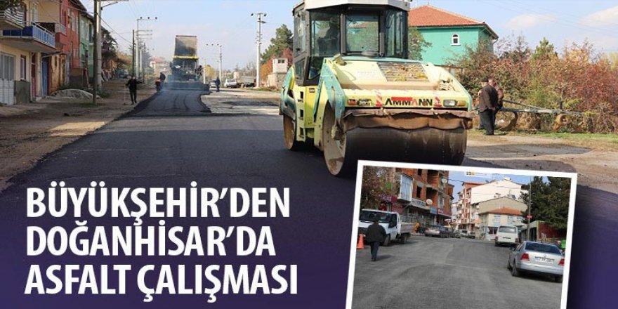 Büyükşehir'den Doğanhisar'da Asfalt Çalışması
