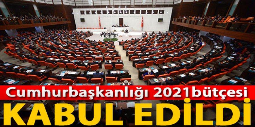 Cumhurbaşkanlığı 2021 bütçesi, Plan ve Bütçe Komisyonu'nda kabul edildi