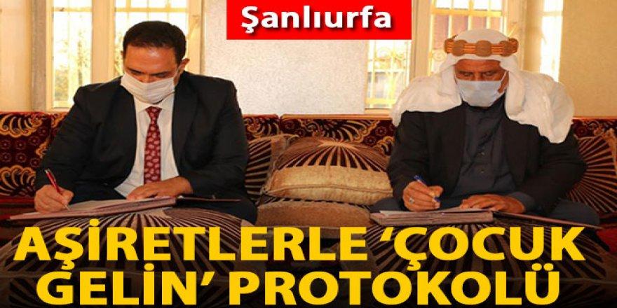 Şanlıurfa'da, aşiretlerle 'çocuk gelin' protokolü imzalandı