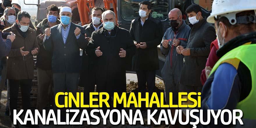 CİNLER MAHALLESİ KANALİZASYONA KAVUŞUYOR