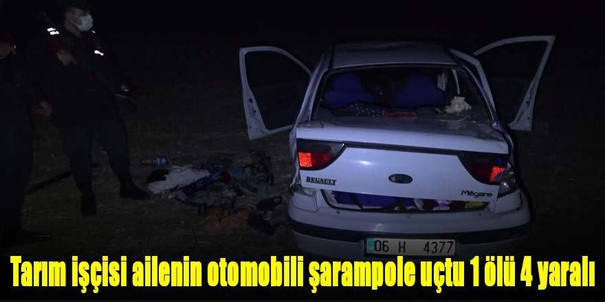 Tarım işçisi ailenin otomobili şarampole devrildi: Minik Meryem öldü, 4 yaralı