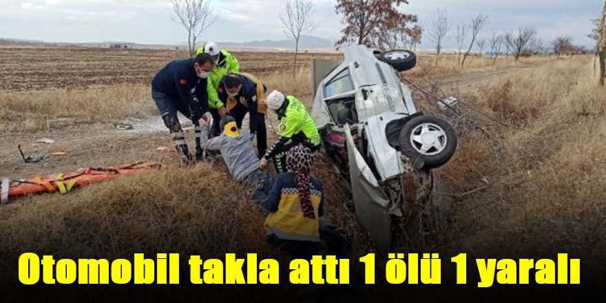 Otomobil şarampole uçtu; 1 ölü, 1 yaralı