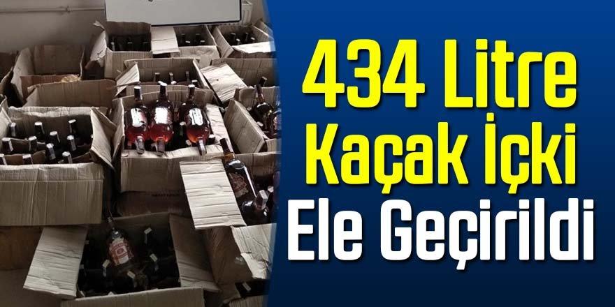 434 şişe kaçak içki ele geçirildi