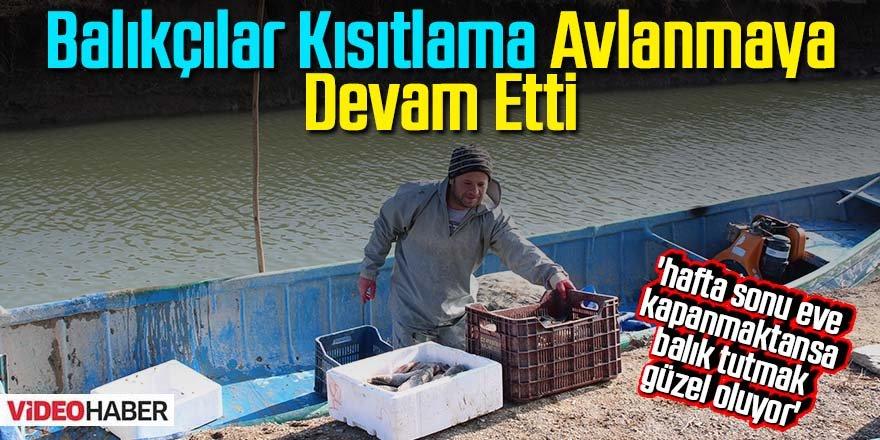 Beyşehir Gölü'nde balıkçılar, kısıtlamada da avlanmaya devam etti