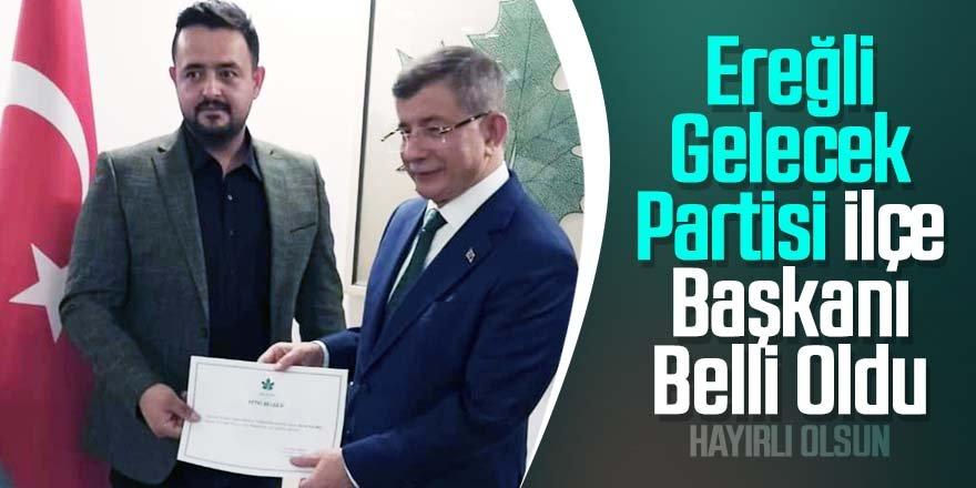 Ereğli'de Gelecek Partisi İlçe Başkanı Şevki Kılınç Oldu