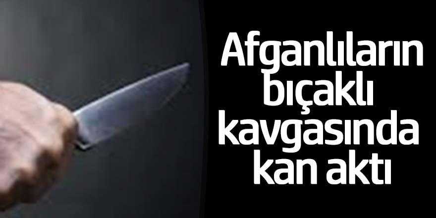 Afgan uyruklu vatandaşlar birbirilerini girdi; 1 yaralı