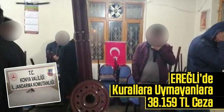 Kahvehanede oturan 11 kişiye 38 bin lira ceza