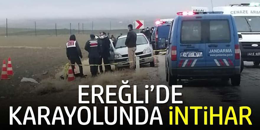 Ereğli'de Karayolunda tabancayla intihar etti