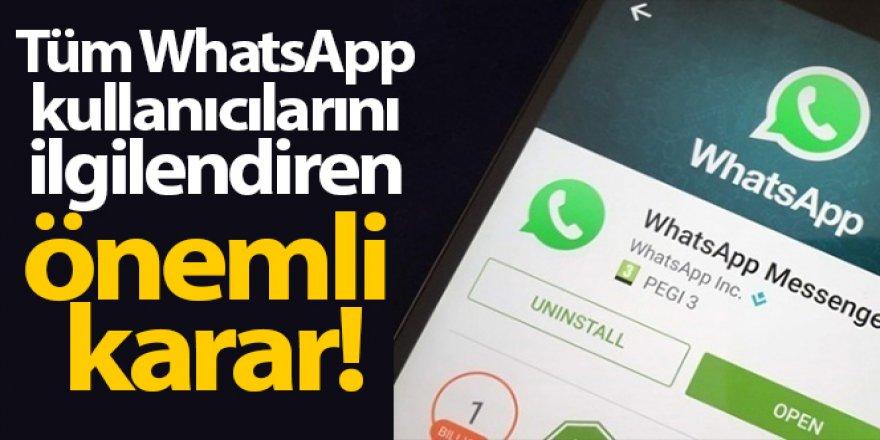 WhatsApp 'zorunlu güncelleme' sözleşmesini 3 ay erteledi